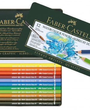 Creioane colorate acuarela Albrecht Durer Faber Castell 12 culori