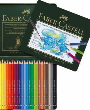 Creioane colorate acuarela Albrecht Durer Faber Castell 24 culori