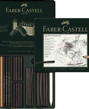 Set Pitt Monochrome Carbune 24buc Faber Castell