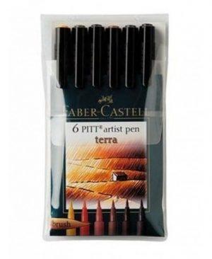 Pitt artist pen Faber Castell pamantiu set 6