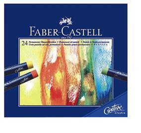 Creioane ulei pastel Faber Castell 24 culori