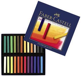 Creioane pastel soft Faber Castell 24 culori