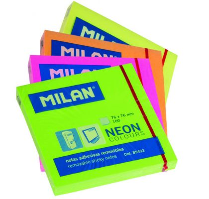 bloc notes adeziv 75x75 neon milan