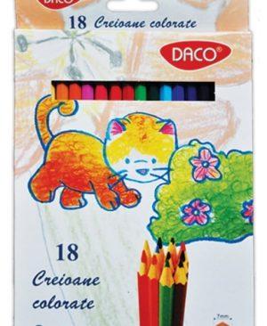 Creioane color 18 culori Daco