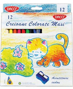 Creioane color 12 culori Maxi Daco hexagonal