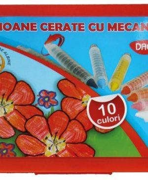 Creioane cerate cu mecanism Daco 10 culori