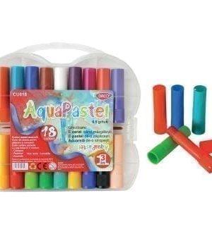Creioane color 18 Pastel Acuarela Aquapastel Daco