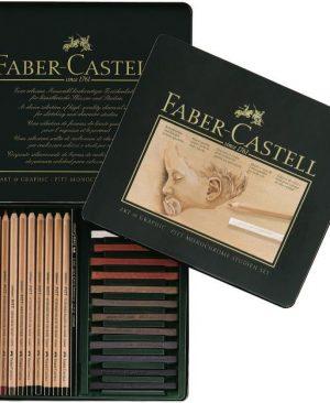 set pitt pastel si monochrome 25 buc faber castell