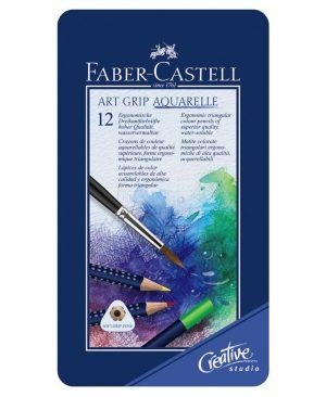 creioane colorate aquarelle art grip 12 culori faber castell