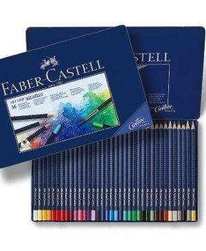 creioane colorate aquarelle art grip 36 culori faber castell