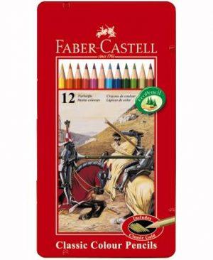 creioane colorate cutie metal faber castell