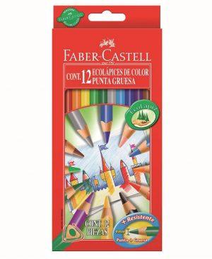 creioane colorate eco faber castell mina groasa