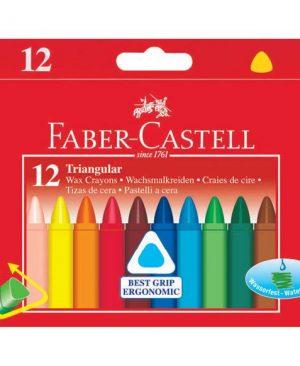 Creioane cerate triunghiulare Faber Castell