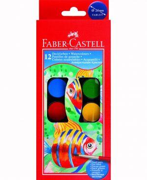 Acuarele 12 Culori Faber Castell 24mm