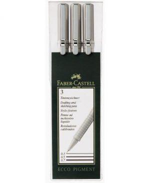 Liner Eco pigment Faber Castell set