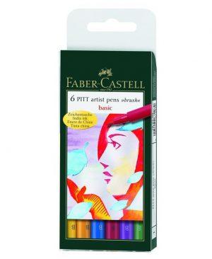 Pitt artist pen set Faber Castell natur
