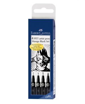Pitt artist pen manga set negru Faber Castell