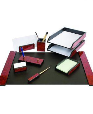 set de birou lemn mahon 8 piese