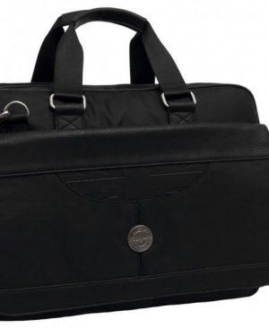 Geanta de umar Pepe Jeans Flag 41cm laptop neagra
