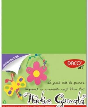 Hartie gumata adeziva 20x30cm 10 culori Daco