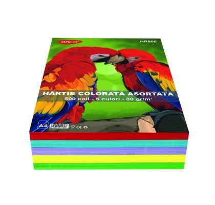 hartie colorata 80g a4 5 culori daco