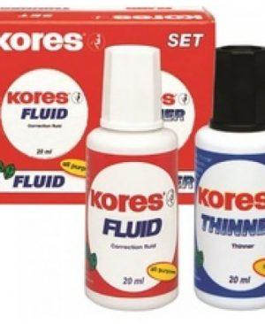 Fluid corector cu solvent set 2x20ml Kores