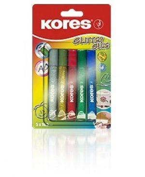 Lipici glitter Kores set 5