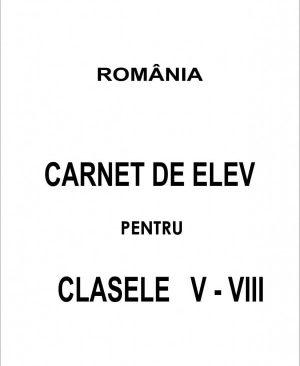 Carnet elev clasele V-VIII