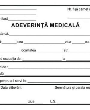 Aadeverinta medicala a6 100 file carnet