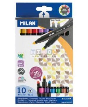Carioca 10 culori Milan tip pensulă
