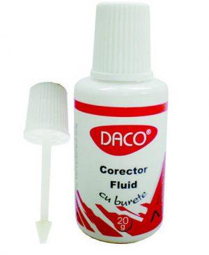 Corector fluid cu burete Daco