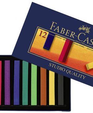Creioane pastel soft Faber Castell 12 culori