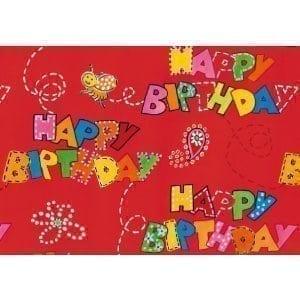 hartie impachetat cadouri 2mx70cm happy birthday