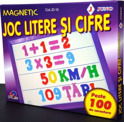 litere si cifre magnetice joc didactic juno