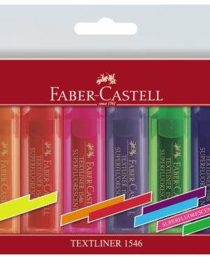 Textmarker superfluorescent Faber Castell set 8