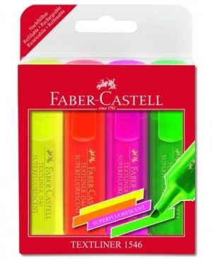 textmarker superfluorescent faber castell set 4