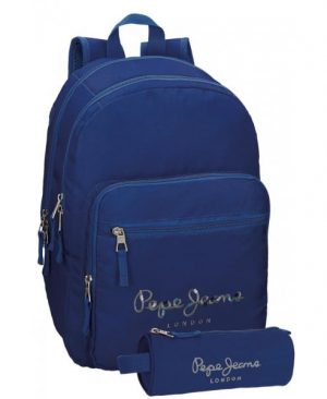 rucsac-scoala-pepe-jeans-harlow-44cm-cu-penar-albastru