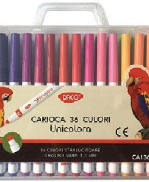 carioca 36 culori varf conic unicolora daco ca136