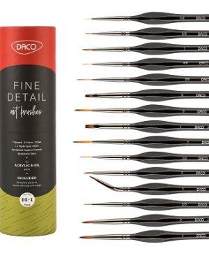 pensule set 14+1 pentru miniatura si detaliu daco