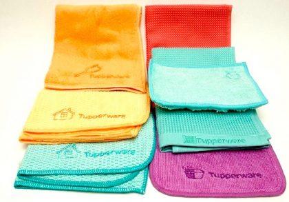 set 4 lavete tupperware microfibra oferta