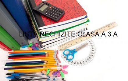 lista rechizite clasa a 3 a