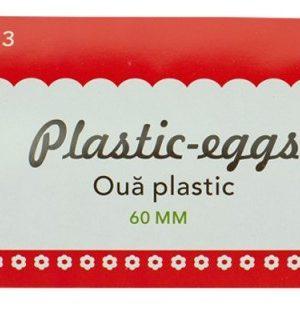 set 12 oua plastic 6 cm daco