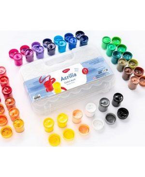 culori acril 25 culori 20 ml acrilia daco cu325