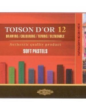 Set creta pastel Toison D'or 12 culori