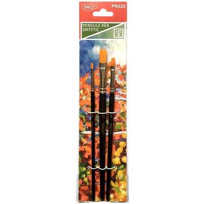 pensula set 3 par sintetic drept