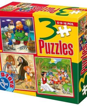 puzzle basme 6-9-16 piese D-Toys