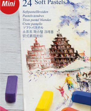 Creioane pastel soft Faber Castell 24 culori mini