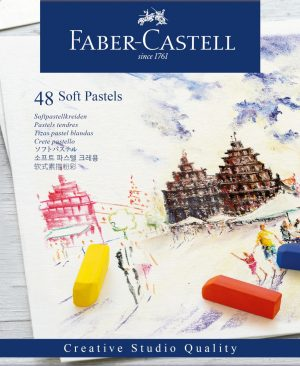 Creioane pastel soft Faber Castell 48 culori mini
