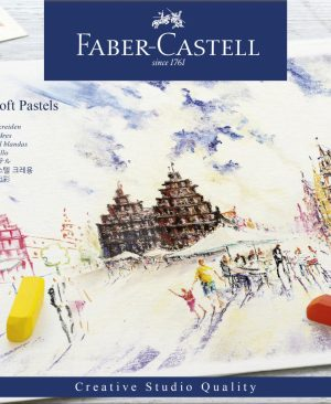 Creioane pastel soft Faber Castell 72 culori mini