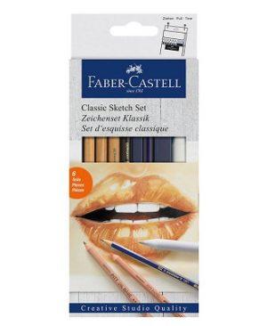 set de creioane faber castell classic sketch